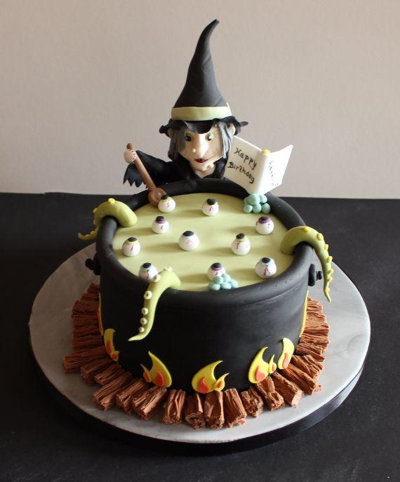 Tremendous 10 Witches Scary Halloween Cakes Photo Halloween Witch Birthday Funny Birthday Cards Online Inifofree Goldxyz