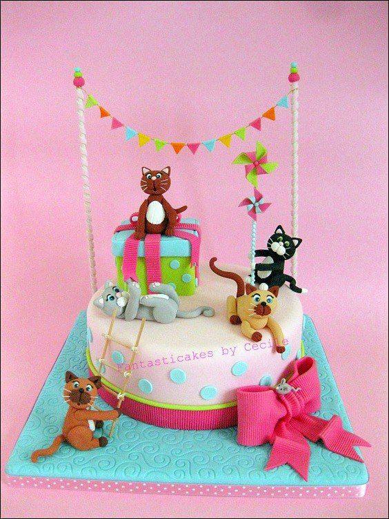 Amazing 10 Kitten Birthday Cakes For 2 Photo Kitten Birthday Cake Cat Funny Birthday Cards Online Necthendildamsfinfo