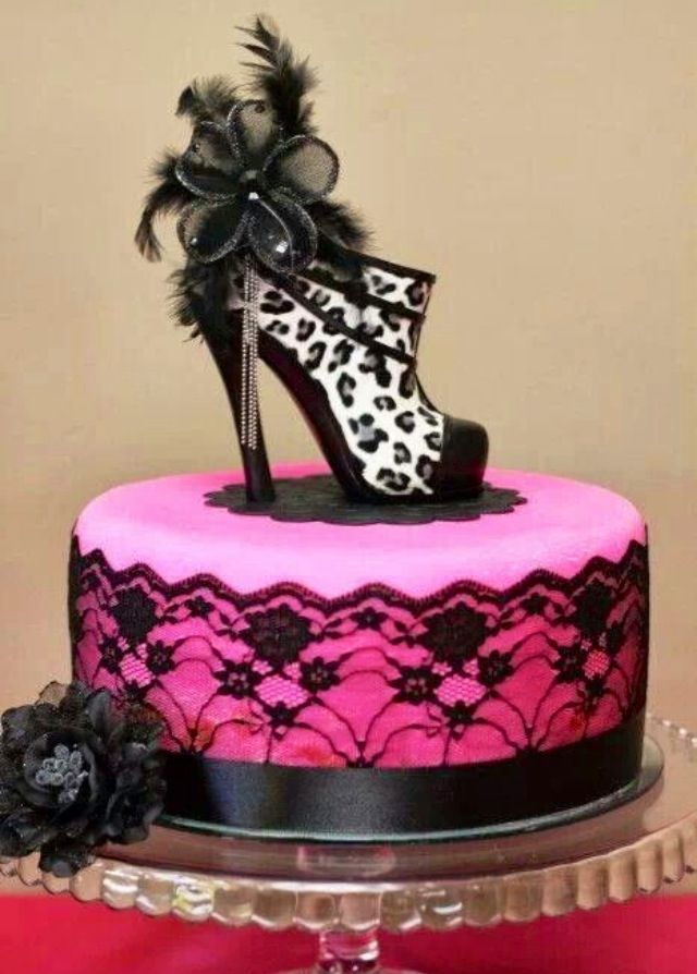 11 Birthday Cakes With High Heel Shoes Photo High Heel Shoe Cake