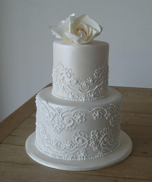 7 Wedding Cakes With Lace Pattern Photo Lace Wedding Cake Vintage