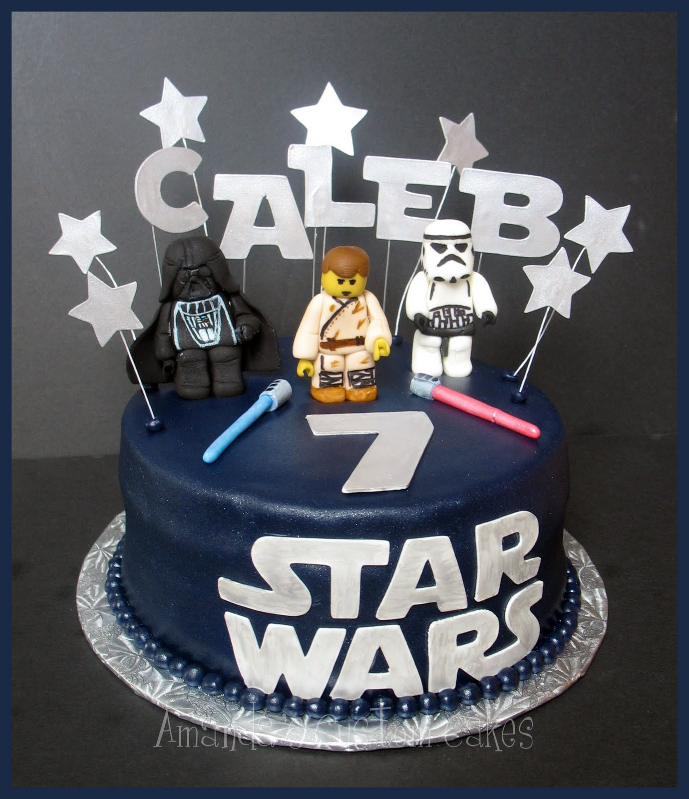Sensational 9 Easy Lego Star Wars Cakes Photo Lego Star Wars Cake Ideas Personalised Birthday Cards Bromeletsinfo