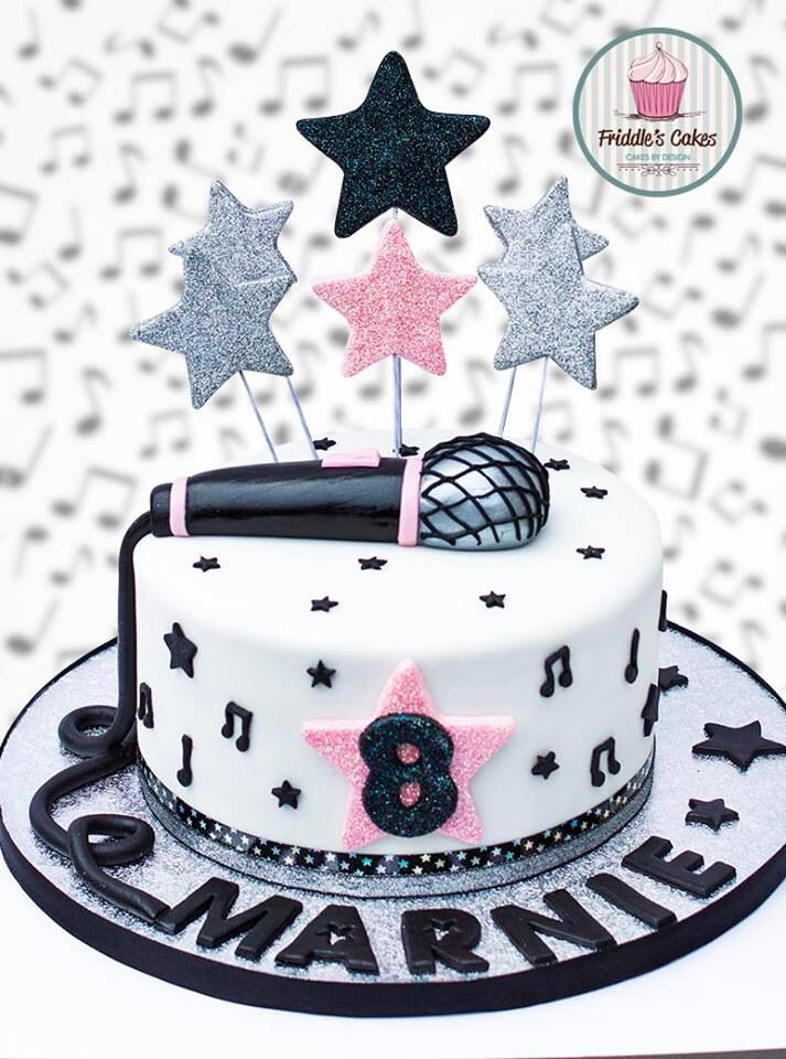 13 Music Birthday Cakes For Girls Photo Music Theme Birthday Cake