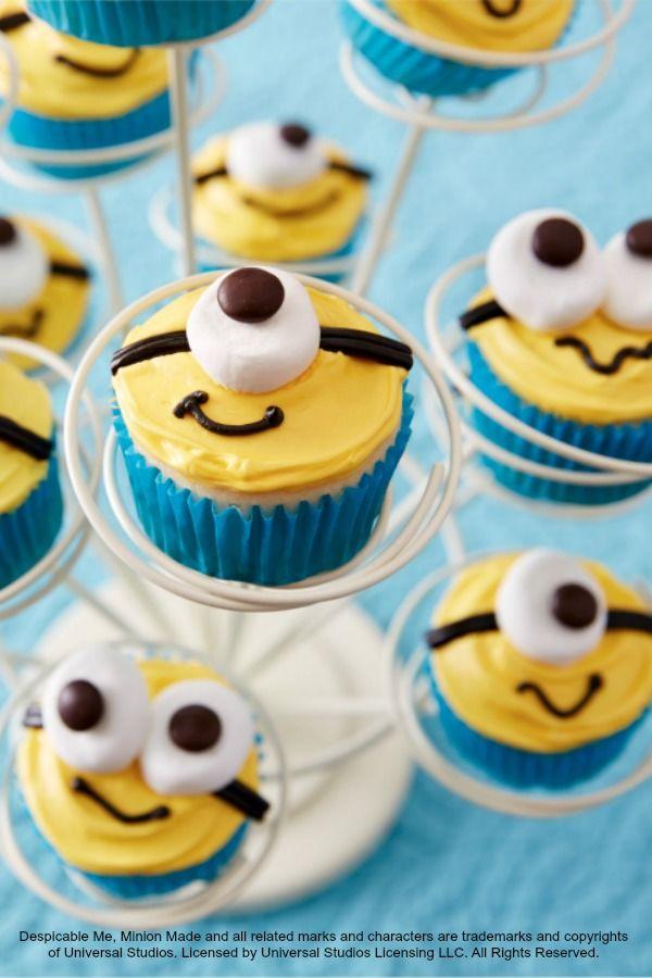 Minion Cupcakes Despicable Me Via Little Boy Birthday Cupcake Idea