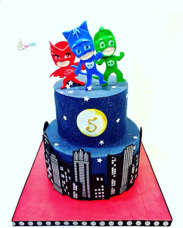PJ Birthday Cake Ideas Masks