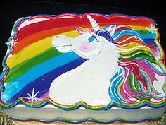 Rainbow Unicorn Birthday Cake Sheet