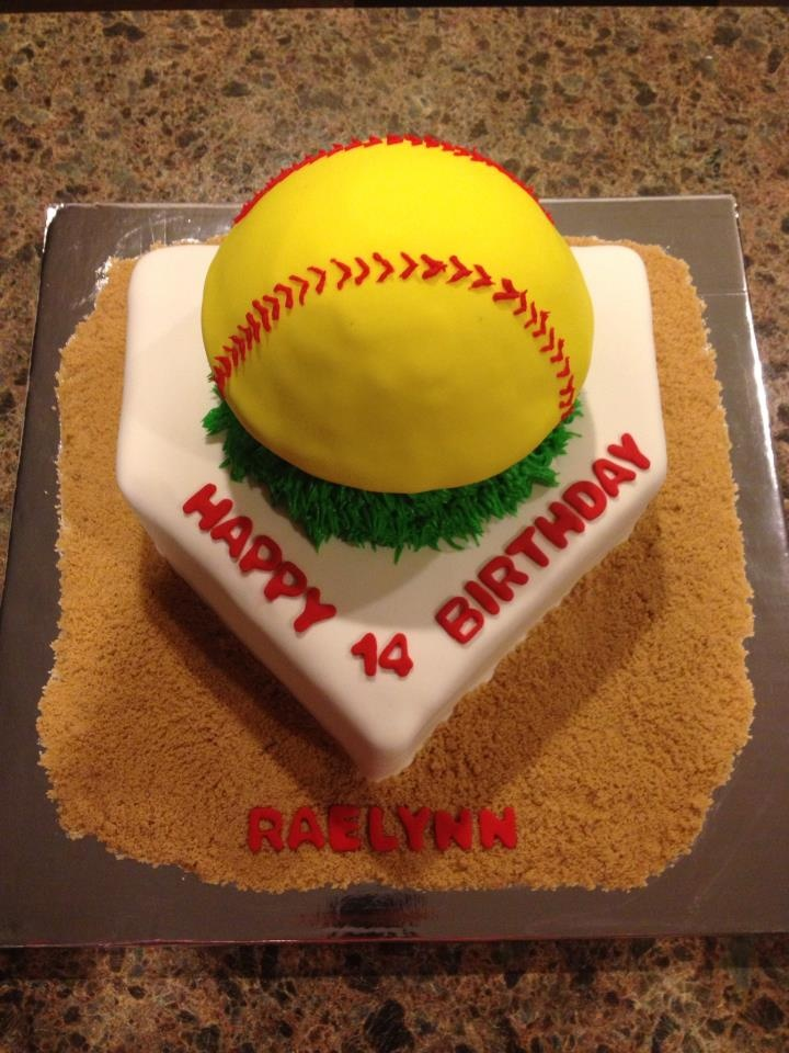 9 Softball Cakes Cute Photo Softball Birthday Cake Softball