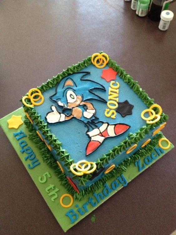 11 Sonic Birthday Cakes For Boys Photo Sonic Birthday Cake Sonic