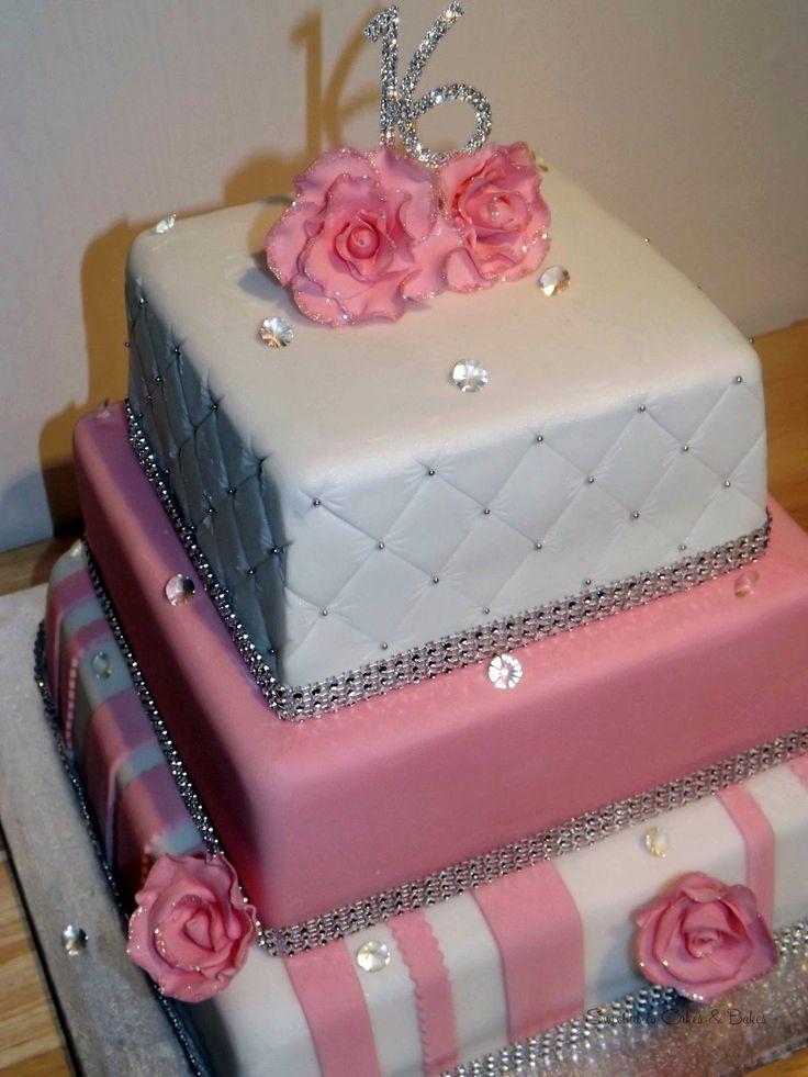 Groovy 8 Sweet 16Th Birthday Cakes 2 Tier Photo Sweet 16 Birthday Cake Funny Birthday Cards Online Alyptdamsfinfo