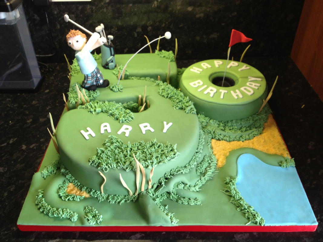 Cool 7 Boys Golf Birthday Cakes Photo Golf Birthday Cake Ideas 50Th Funny Birthday Cards Online Ioscodamsfinfo