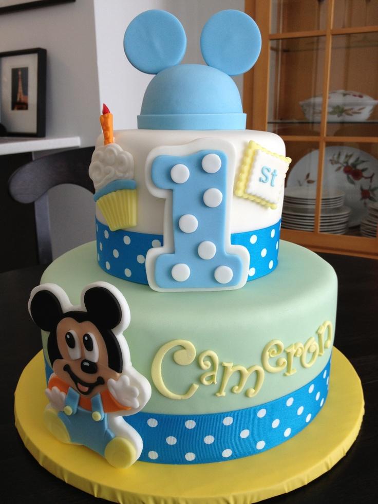 Groovy 11 Mickey 1St Birthday Boy Cakes Photo Baby Mickey 1St Birthday Funny Birthday Cards Online Alyptdamsfinfo