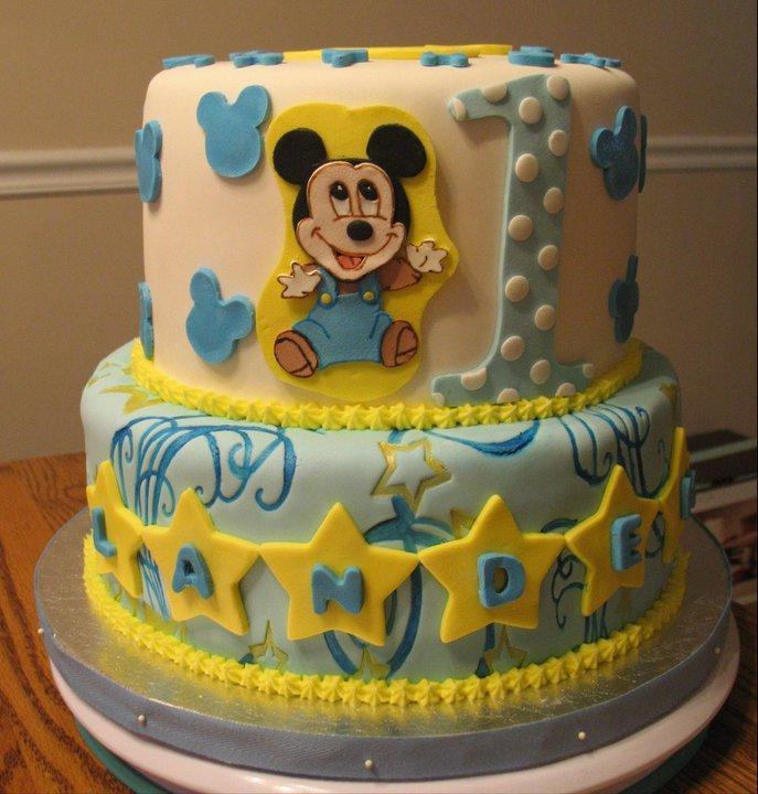11 Mickey 1st Birthday Boy Cakes Photo Baby Mickey 1st Birthday