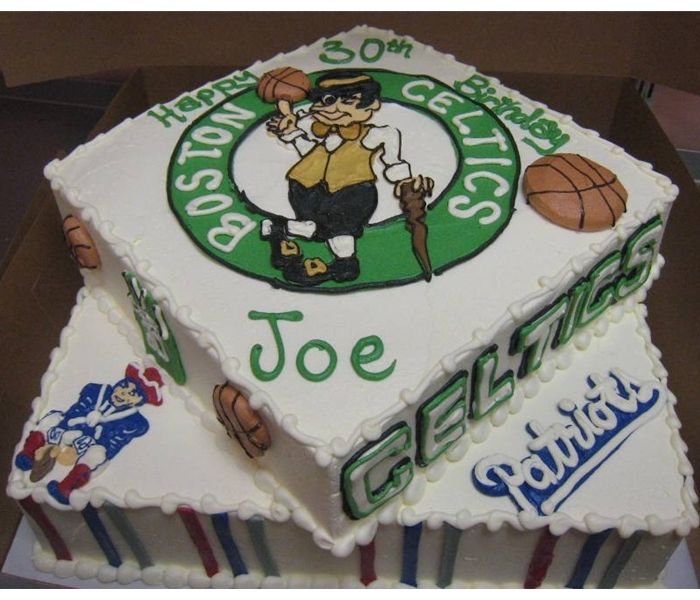 Boston Celtics Via Happy Birthday Patriots Cake