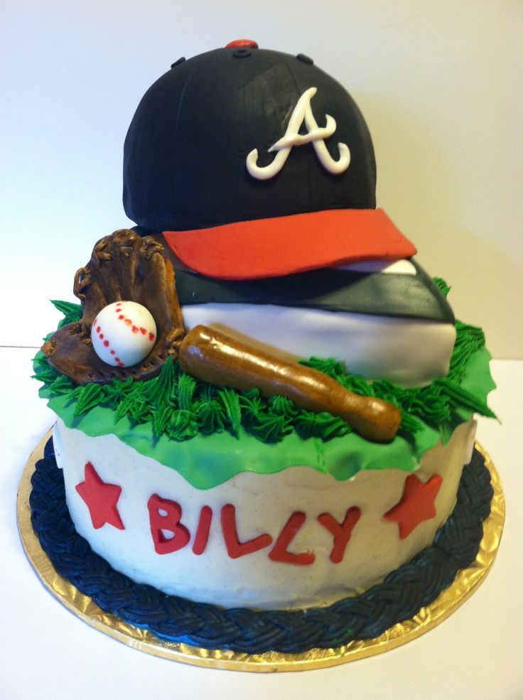 Braves Baseball Birthday Cake