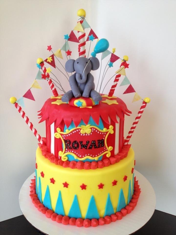 Groovy 13 1St Birthday Circus Cakes Ideas Photo Circus First Birthday Funny Birthday Cards Online Elaedamsfinfo