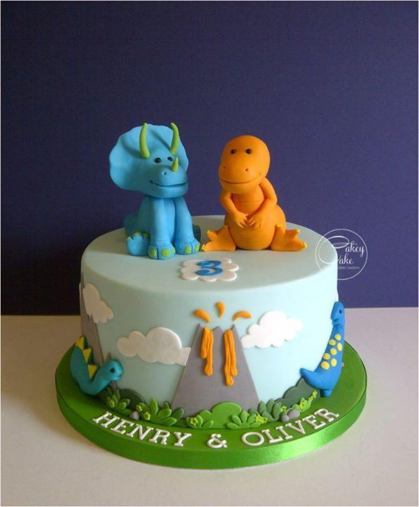 9 Dinosaurs Boys Birthday Cakes 1 Photo Cute Dinosaur Birthday