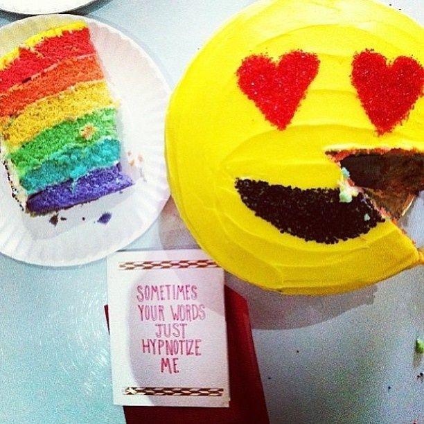 13 Rainbow Emoji Cakes And Cupcakes Photo