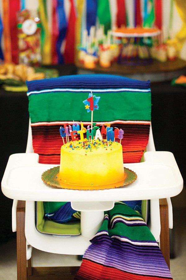 Fiesta First Birthday Cake