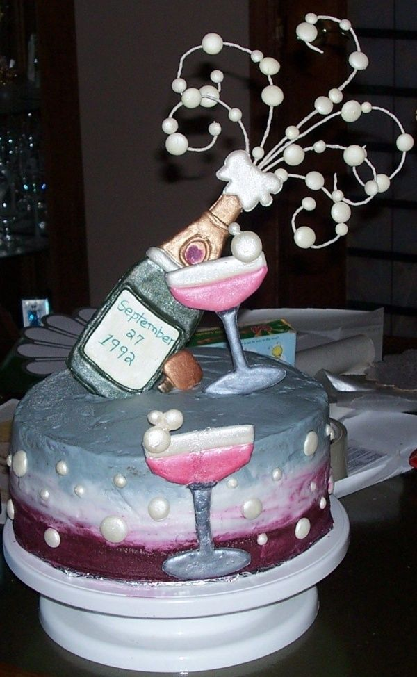 Stupendous 8 Birthday Cupcakes And Champagne Glasses Photo Birthday Wine Funny Birthday Cards Online Hetedamsfinfo