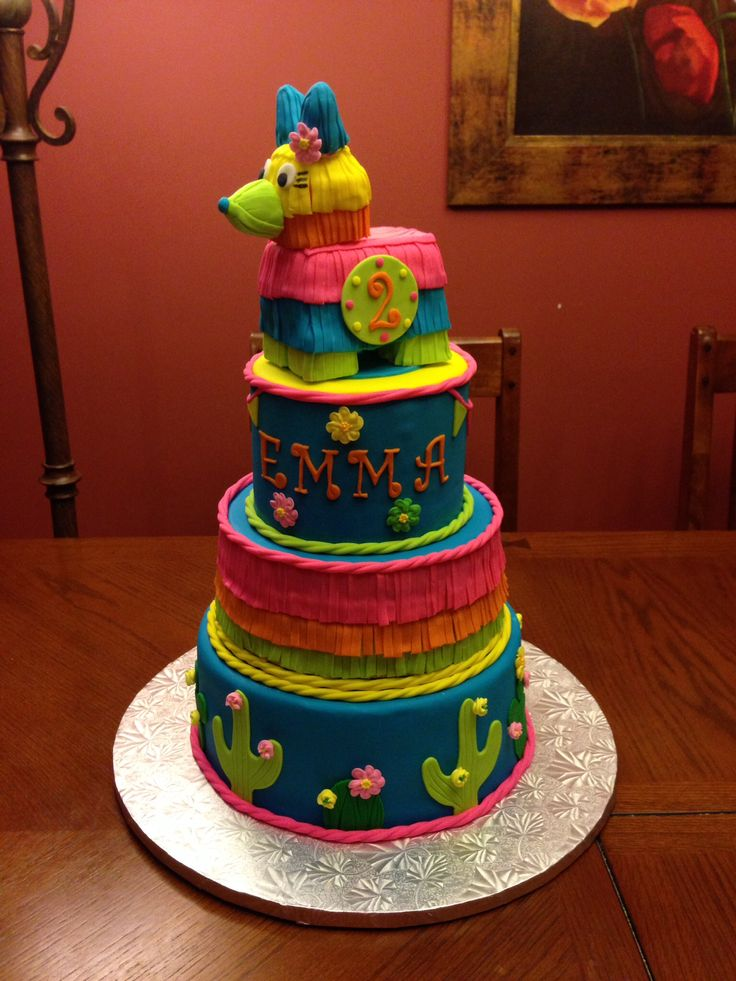 Happy Birthday Fiesta Cake