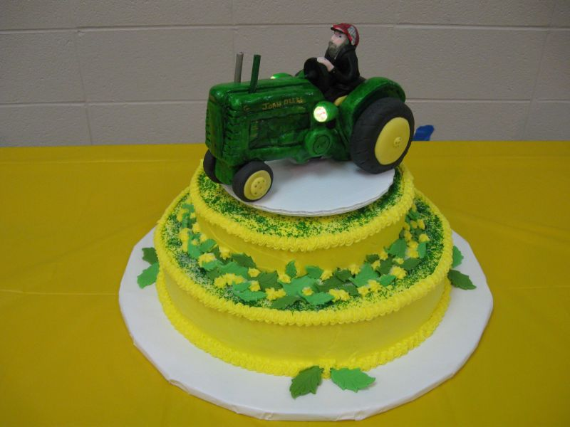 John Deere Wedding Cake Topper