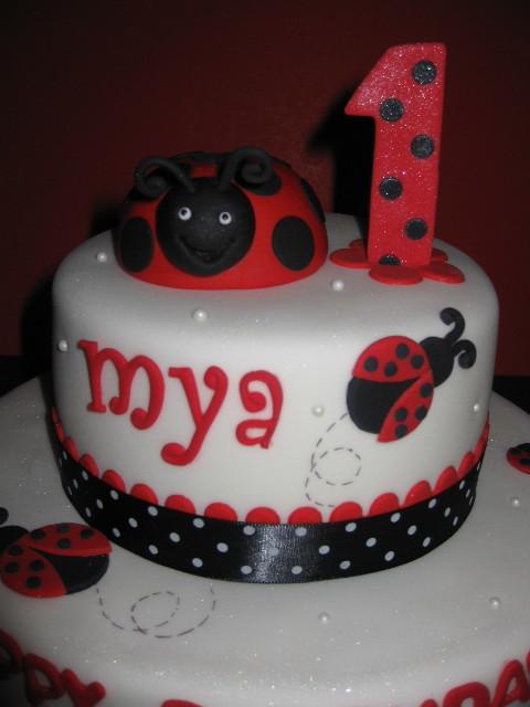 Wondrous 12 Ladybug First Birthday Cakes For Photo Ladybug First Birthday Funny Birthday Cards Online Kookostrdamsfinfo
