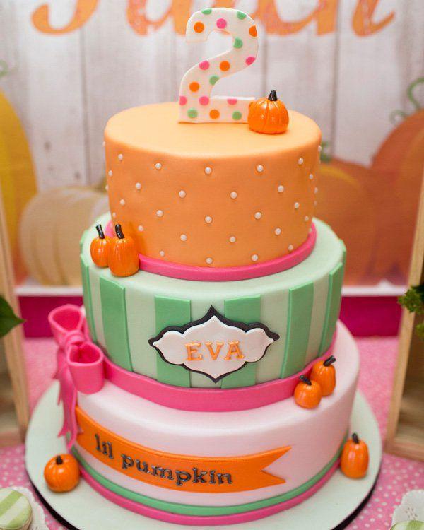 Awesome 13 Cute Fall Birthday Cakes Photo Little Pumpkin Birthday Cake Funny Birthday Cards Online Alyptdamsfinfo