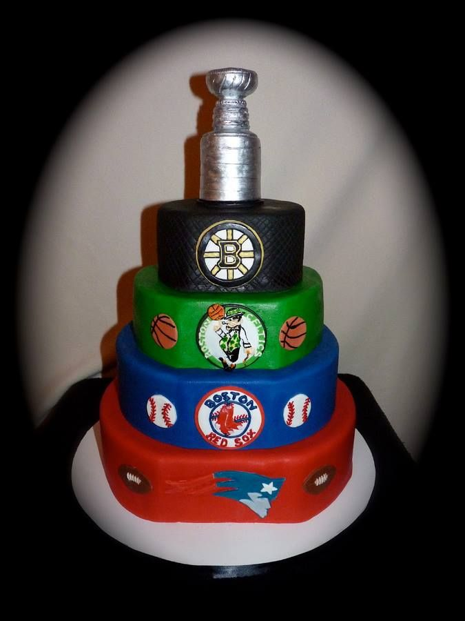 Magnificent 10 Boston Patriots And Birthday Cakes Photo Boston Celtics Personalised Birthday Cards Paralily Jamesorg