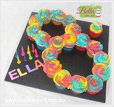 Number 8 Cupcake Cake