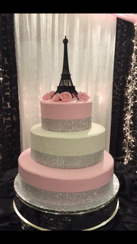 Admirable 11 Flat Paris Cakes Photo Paris Eiffel Tower Birthday Cake Personalised Birthday Cards Beptaeletsinfo