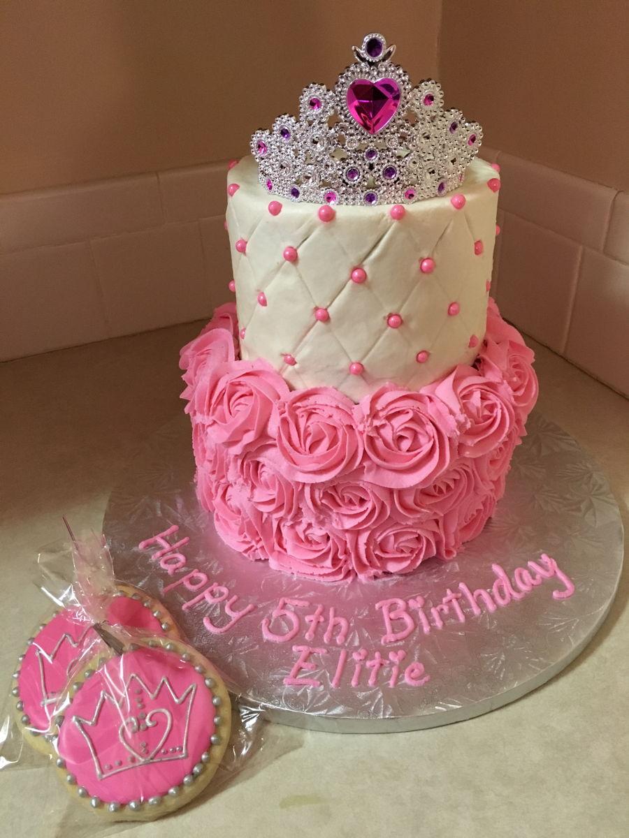 12 Princess Buttercream Tier Cakes Photo Princess Birthday Cake