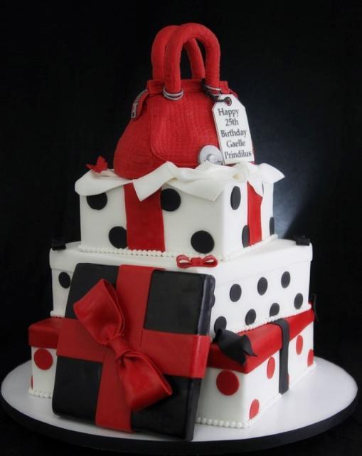Phenomenal 10 Red Black White 3 Tier Cakes Photo Black And White 3 Tier Birthday Cards Printable Giouspongecafe Filternl