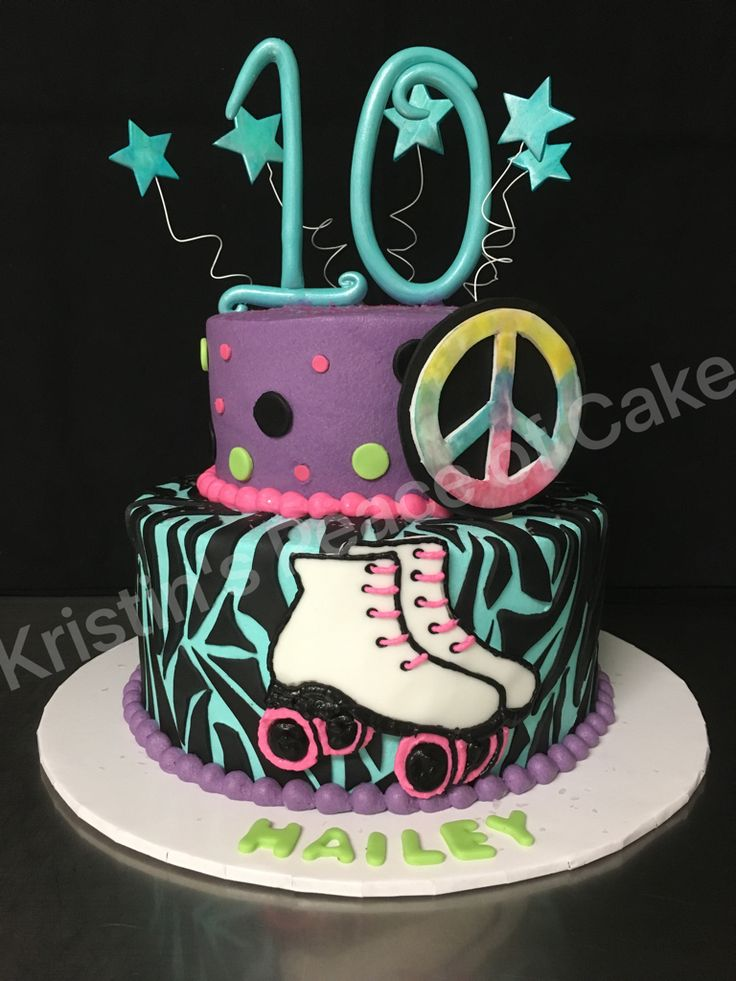 Awe Inspiring 13 Roller Skate Birthday Cakes For Girls 10Th Birthday Photo Personalised Birthday Cards Petedlily Jamesorg