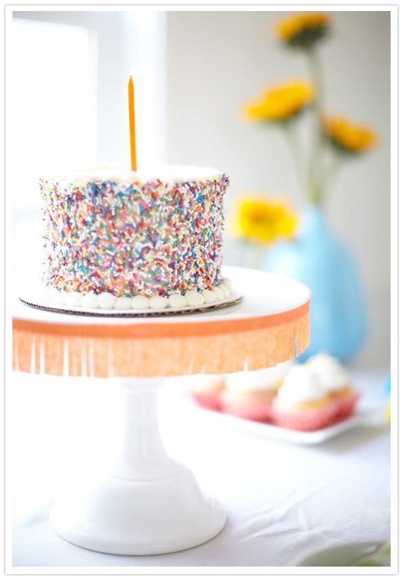 Sprinkles Birthday Party Cake