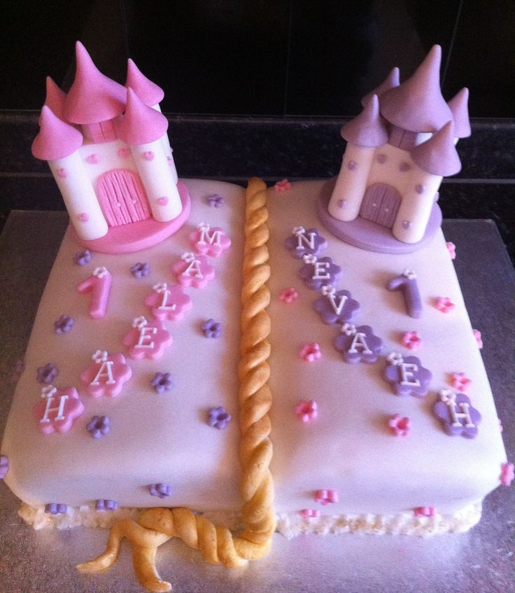 Marvelous 11 Themed Twin Birthday Cakes For Girls Photo Boy Girl Twins Funny Birthday Cards Online Elaedamsfinfo