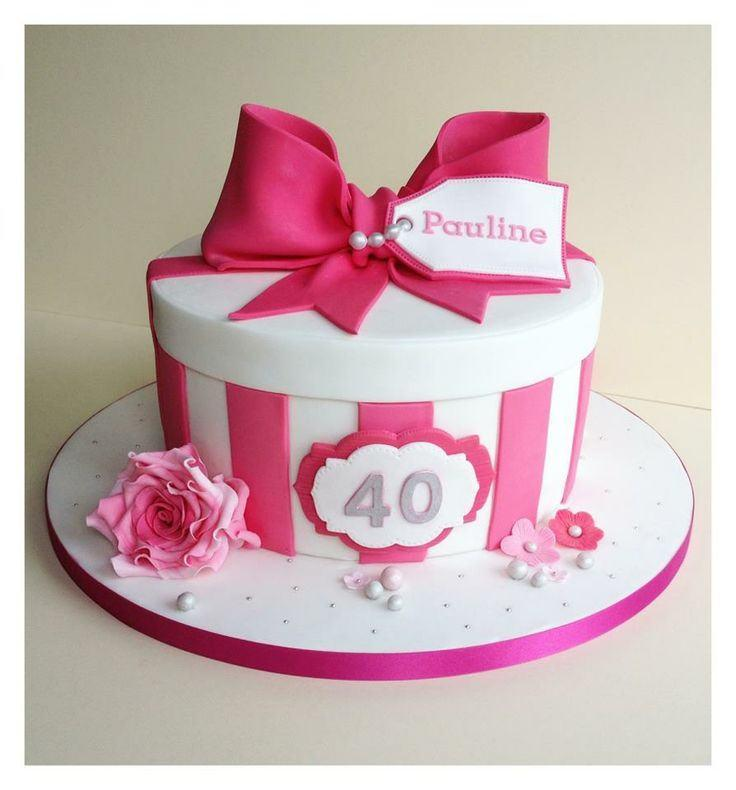 10 40 Birthday Cakes For Women Photo