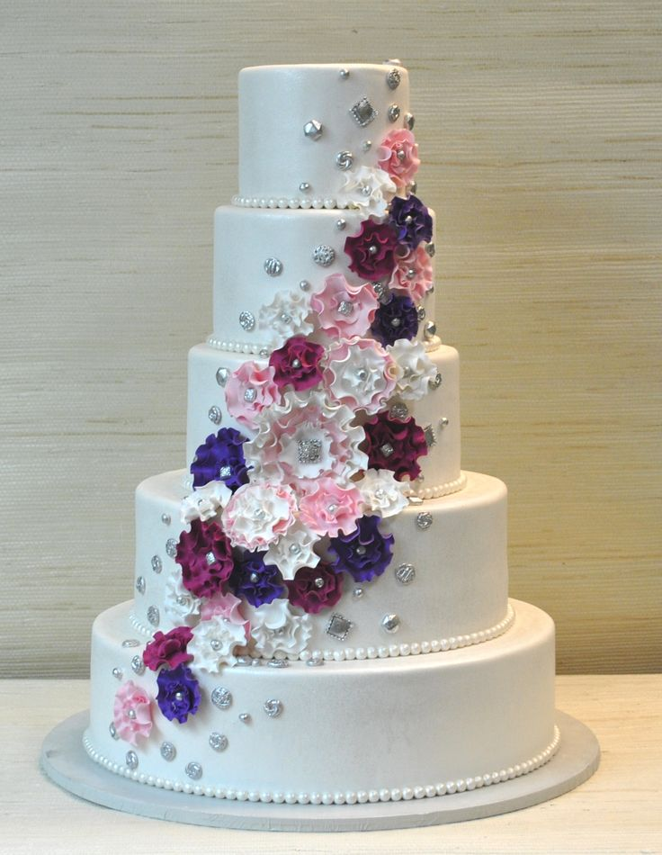 8 Tiered Wedding Cakes Extraordinary Photo 5 Tier Wedding Cake