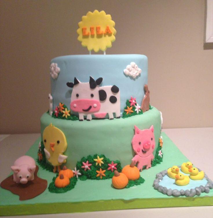 Magnificent 12 Farm Animal Birthday Cakes Photo Farm Animals Birthday Cake Funny Birthday Cards Online Alyptdamsfinfo