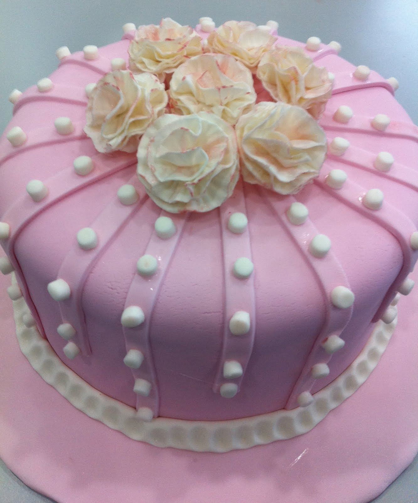 9 Amazing Flower Birthday Cakes Photo Hand Painted Wedding Cake