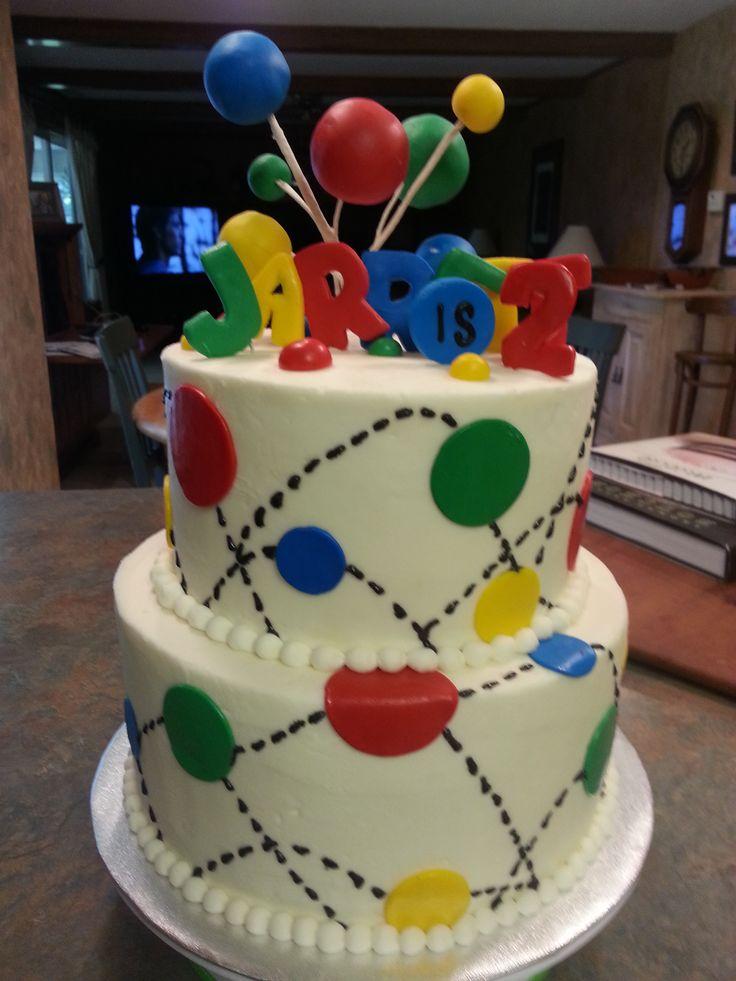 Astonishing 9 Bouncing Ball Birthday Cakes Photo Bouncy Ball Birthday Cake Funny Birthday Cards Online Inifodamsfinfo