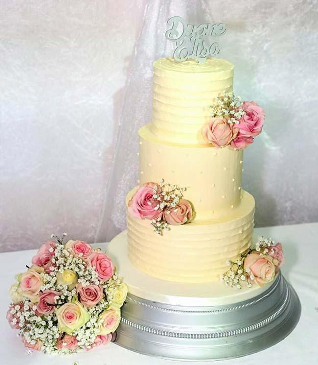 11 Two Tier Buttercream Wedding Cakes Christmas Photo - Wedding Cake ...