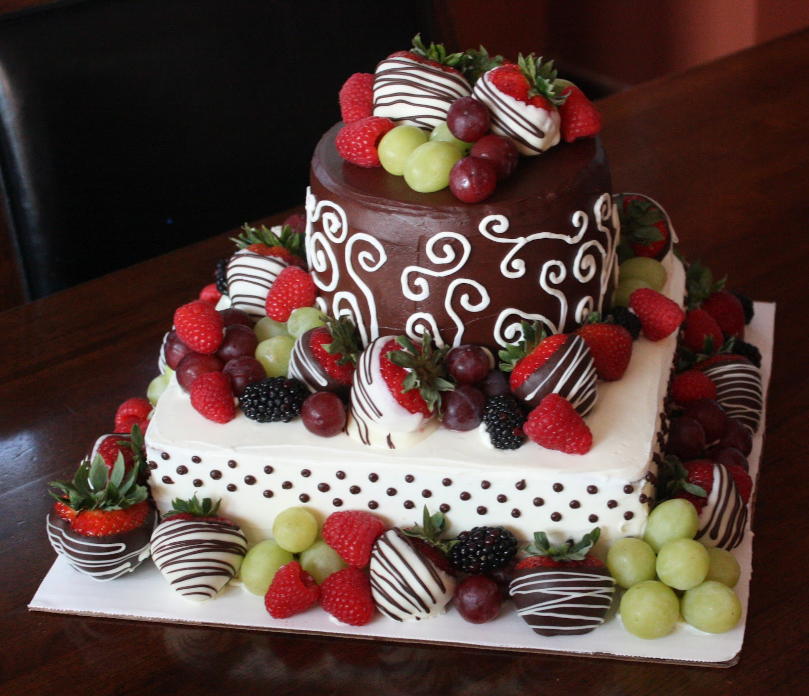 Chocolate Birthday Cake With Strawberries