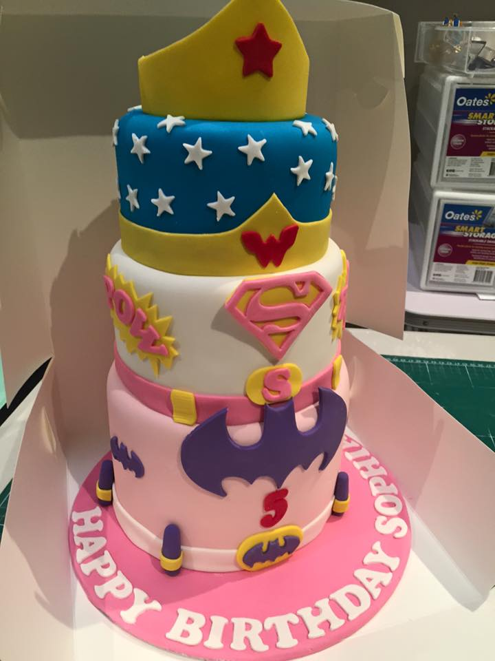 DC Super Hero Girls Birthday Cake