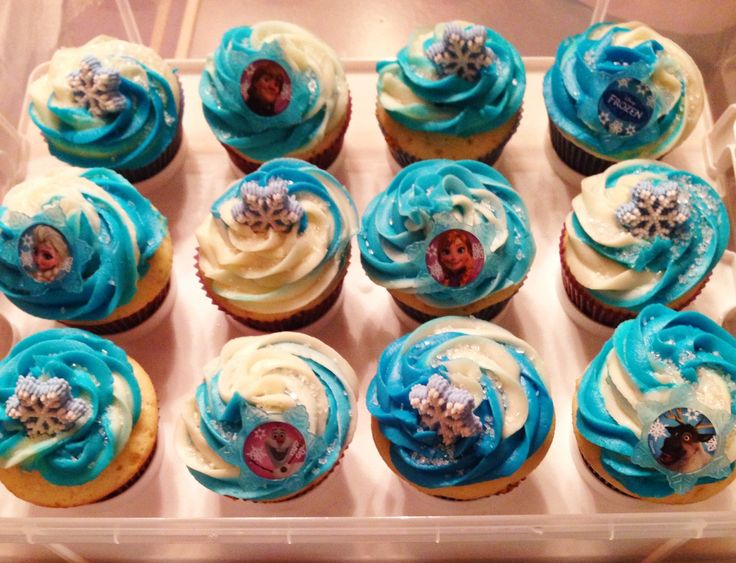 10 By Disney Frozen Cupcakes Photo Birthday