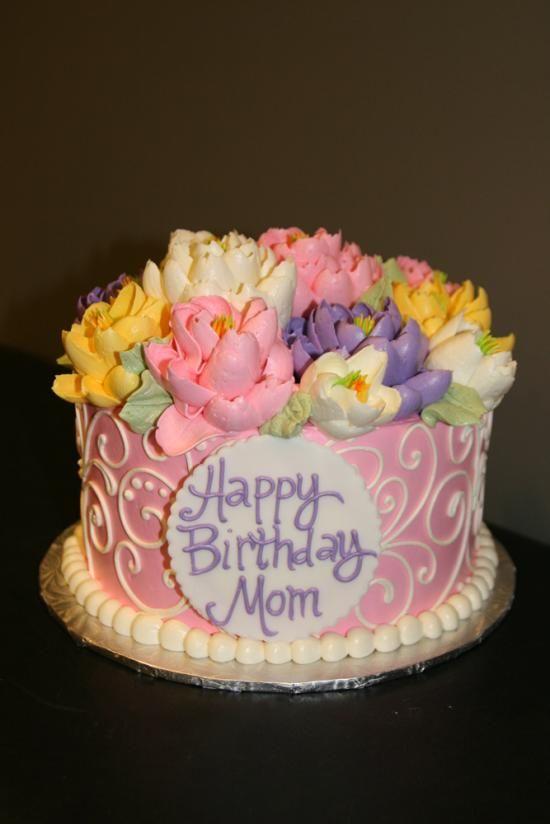 Magnificent 10 Elegant Birthday Cakes For Moms Photo Elegant Birthday Cake Funny Birthday Cards Online Alyptdamsfinfo
