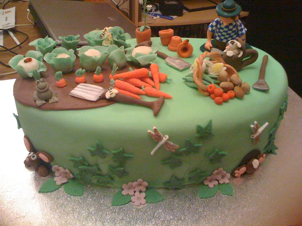10 With Cakes And Decorations Garden Home Photo - Garden Cake ...