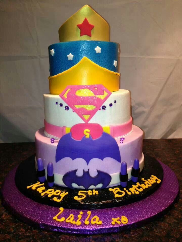 6 DC Super Girls Birthday Cakes Photo