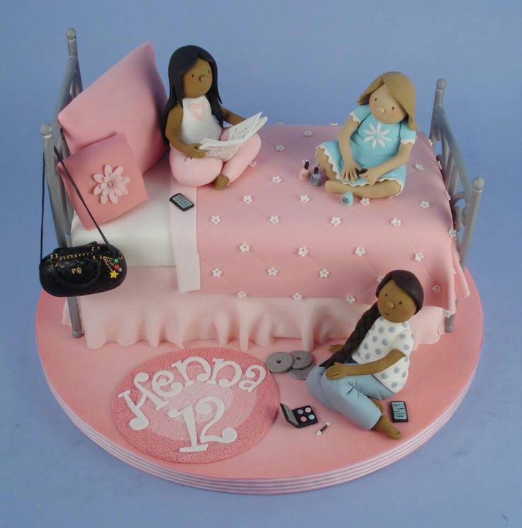 6 Girls Birthday Cakes Slimmer Party Photo Girls Birthday Cake