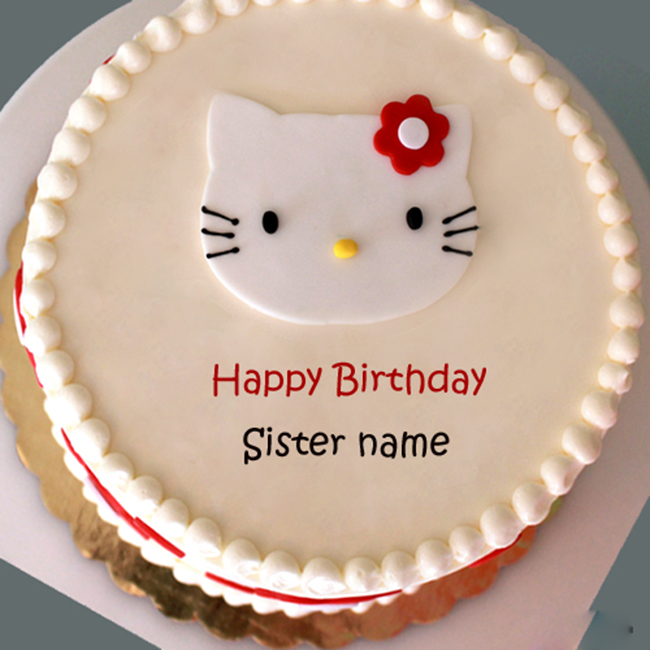 Happy Birthday Sister Cake With Name