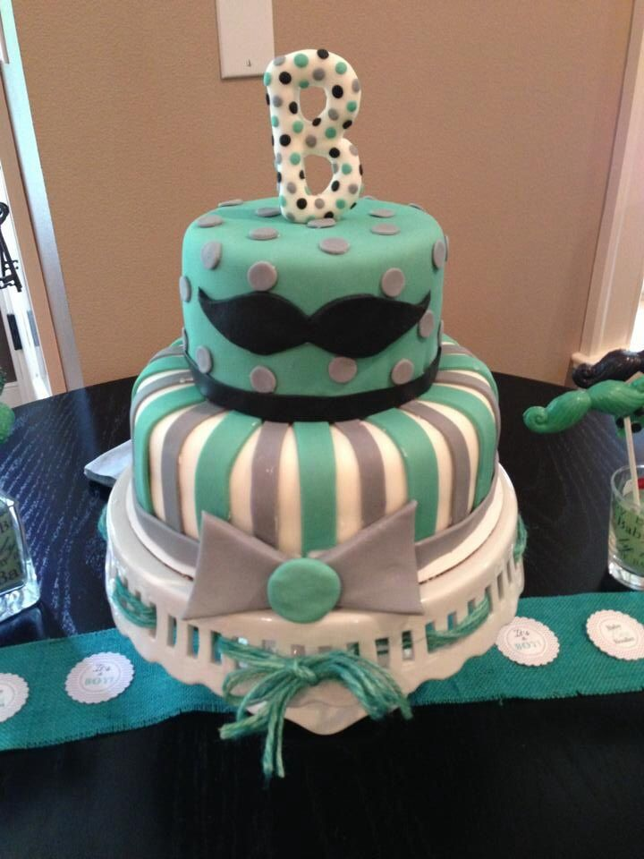12 Mustache Baby Shower Cakes Pinterest Photo Mustache Baby Shower