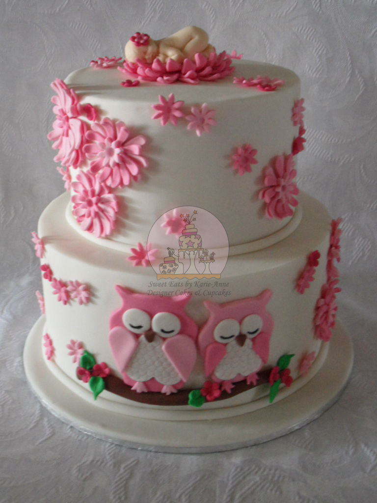 10 Owl Themed Baby Shower Cakes Photo Owl Baby Shower Cake Owl